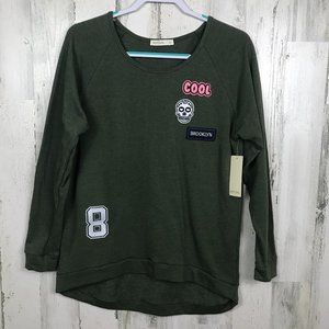 NWT Hot Gal sweatshirt patches sugar skull
